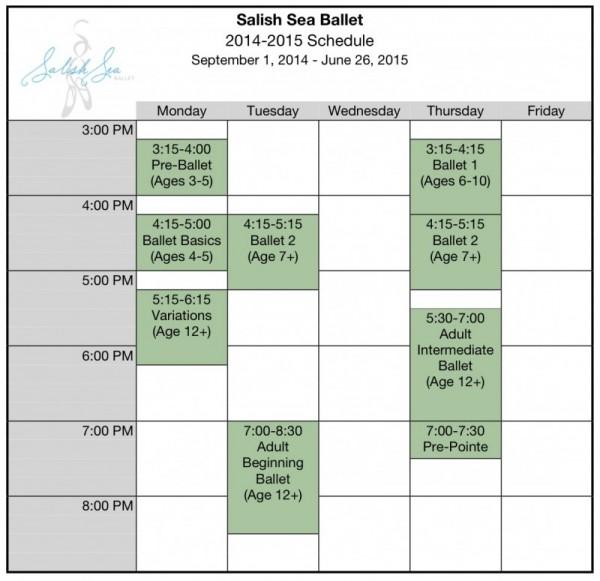 2014-2015 Schedule