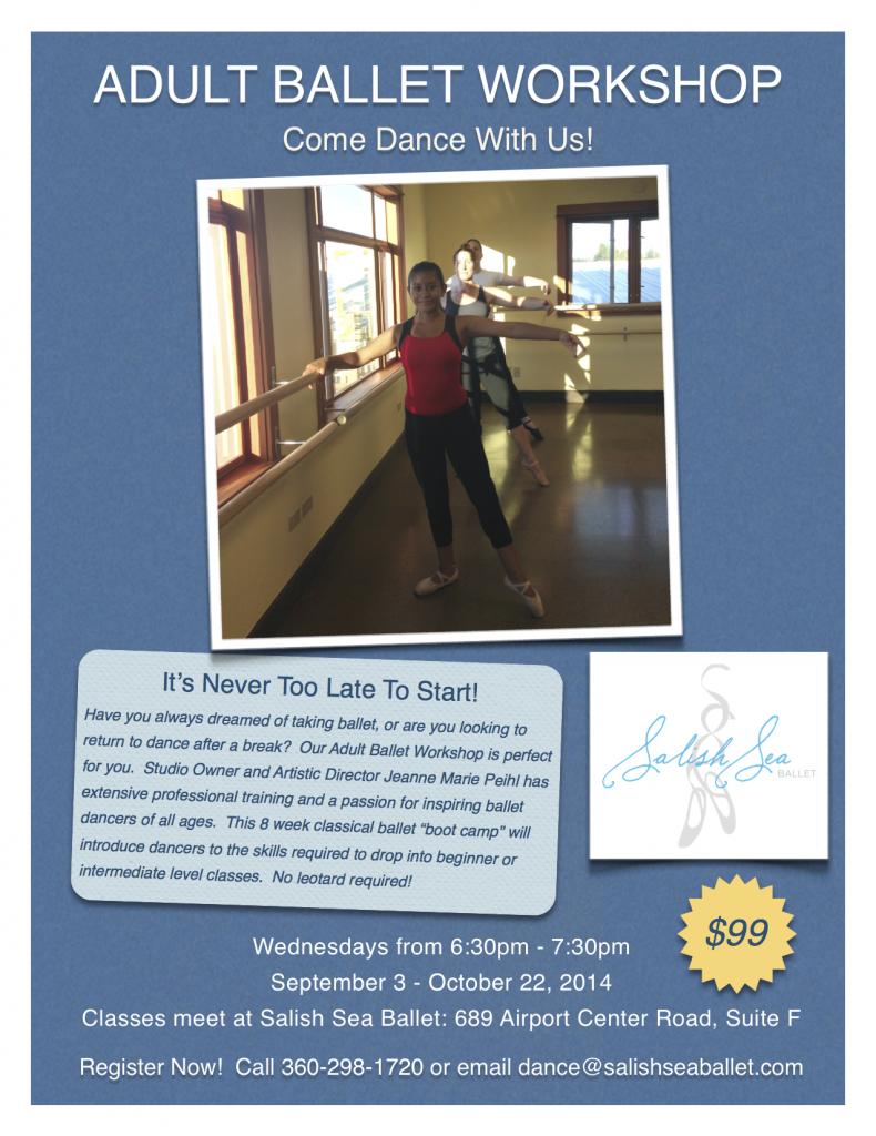 Adult Ballet Workshop Flyer