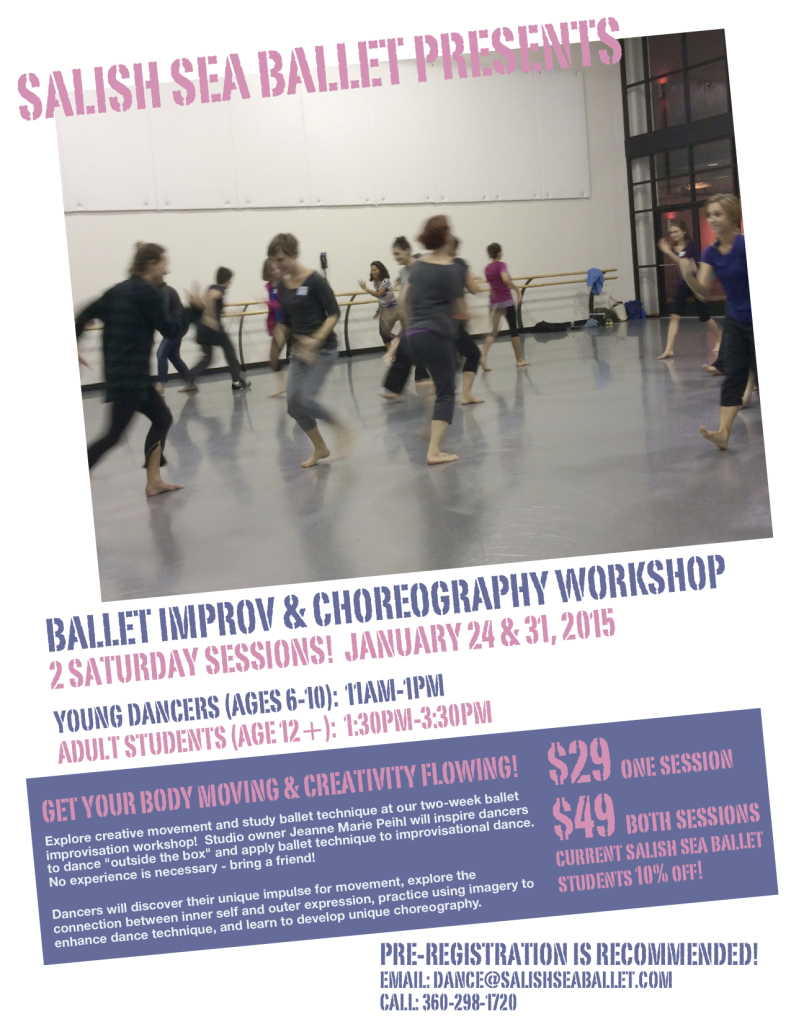 Ballet Improv & Choreography Workshop Flyer